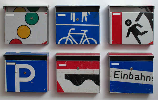 repost,re post,briefkasten,upcycling,reuse,street sign,straßenschild,post box,design andre stache,foto andre stache