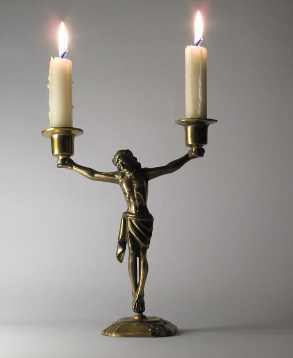 kerzenhalter jesus,candle holder jesus,re use,re do,re make,jesus,crucifix,kruzifix,andre stache