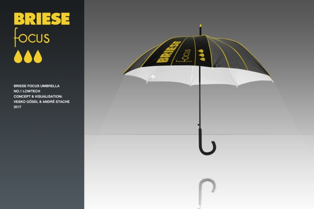 Briese focus,umbrella,regenschirm,idee,rendering,idea,vesko gösel,andre stache,lowtech