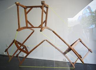 dreistühle,geodesicchairinstallation,threechairs,installation,tetraeder,chair,tetraechair,andrestache,fotoveskogösel